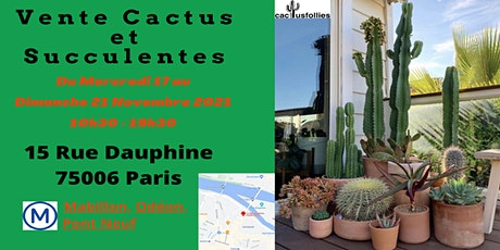 VENTE CACTUS ET SUCCULENTES PARIS 6e billets