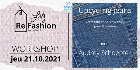 Upcycling jeans tickets