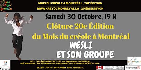 Clôture 20e Édition du Mois du créole à Montréal billets