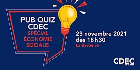 Pub Quiz CDEC – Spécial économie sociale! billets