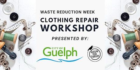 Virtual Clothing Repair Workshop - Waste Reduction Week tickets