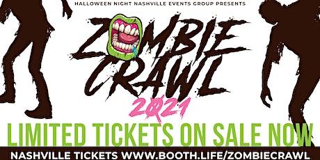 Zombie Crawl - a Nashville Halloween Broadway Bar Crawl tickets