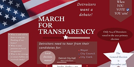 March for Transparency tickets