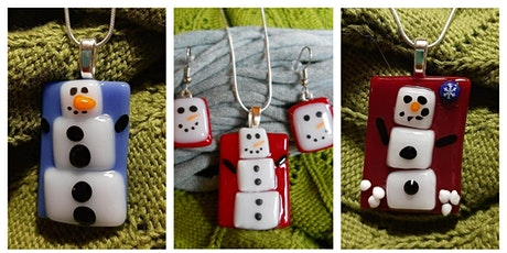 Snowman Necklace and Earrings Fused Glass Workshop -  Wyandotte tickets
