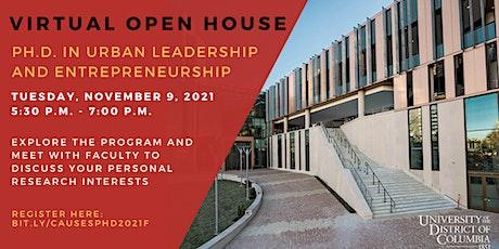 UDC Ph.D. in Urban Leadership and Entrepreneurship Open House tickets