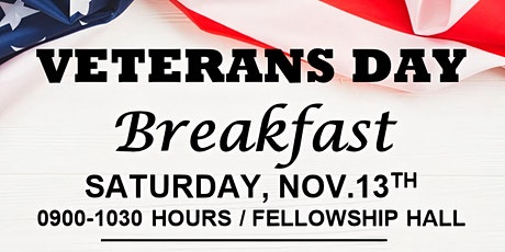 FREE - Veterans Day Breakfast - Your Service Mattered tickets