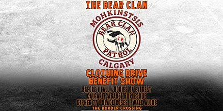 The Bear Clan Patrol benifitt show and clothing drive tickets