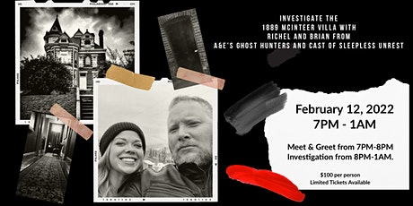 INVESTIGATE  WITH BRIAN AND RICHEL FROM GHOST HUNTERS AND SLEEPLESS UNREST tickets