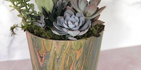 Sips + Succs: Succulent Arrangements + Pour Painting Pottery tickets