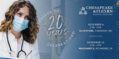 Celebrating 20 years with Chesapeake & FlexRN Medical Staffing tickets