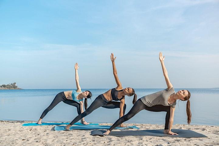 SFL Mom Bloggers Beach Yoga & Wellness Meetup - Balancing Life image