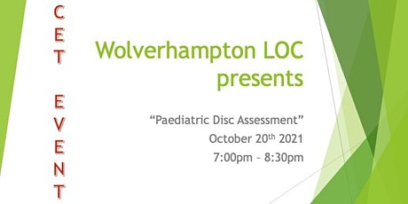 Paediatric Disc assessment tickets