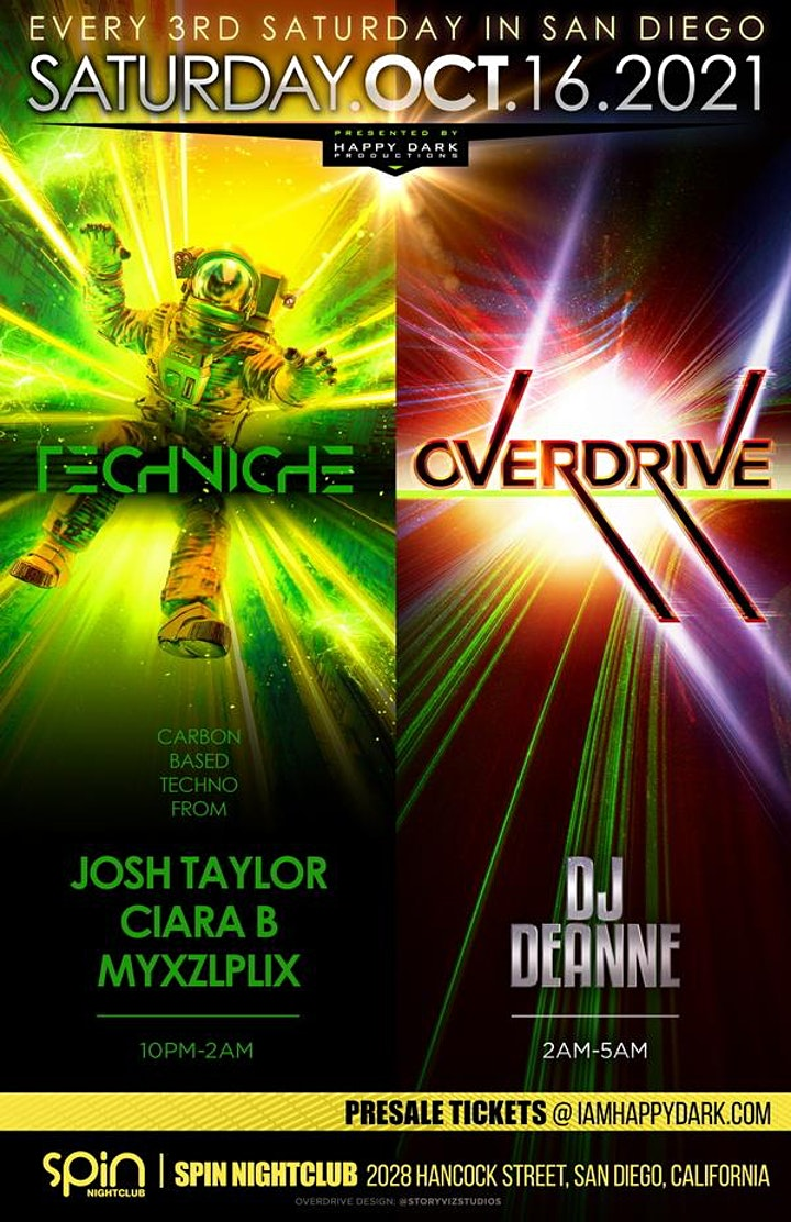 OVERDRIVE with DJ Deanne + Techniche image