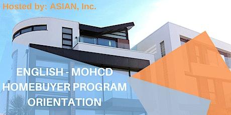 11/3/21 MOHCD Orientation (English) tickets
