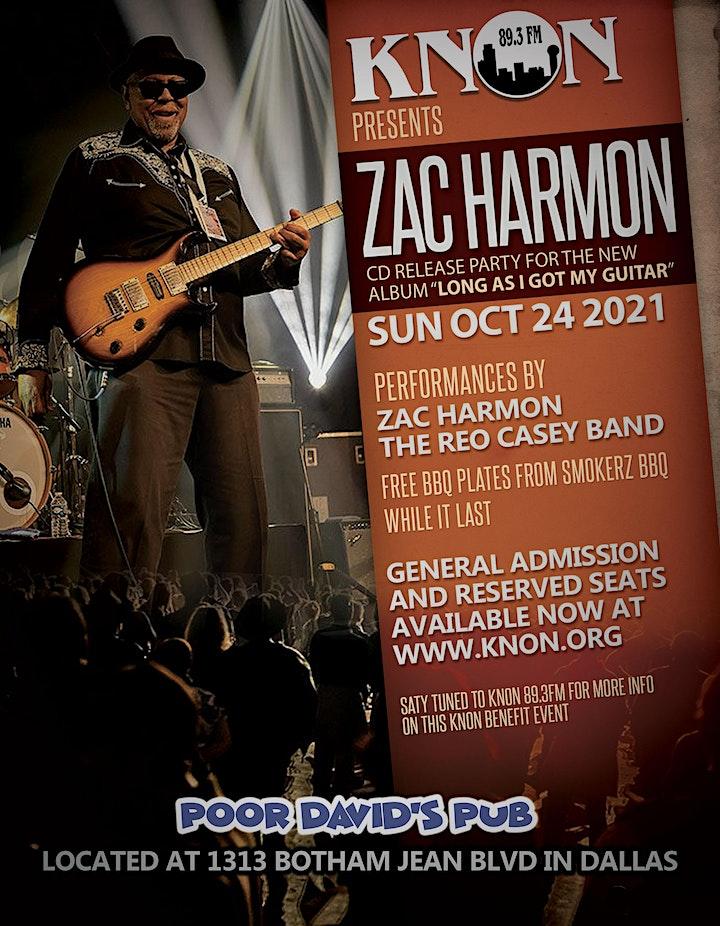 KNON's Zac Harmon Cd Release Party image
