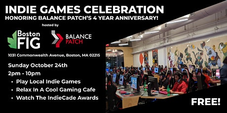 BostonFIG & Balance Patch Indie Games Celebration tickets