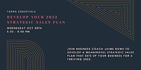 TARRA Essentials: Develop Your 2022 Strategic Sales Plan tickets