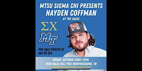 MTSU Sigma Chi presents Hayden Coffman tickets