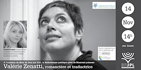 Valérie Zenatti, romancière et traductrice billets
