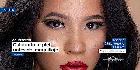 Cuidado de la piel antes del maquillaje. entradas