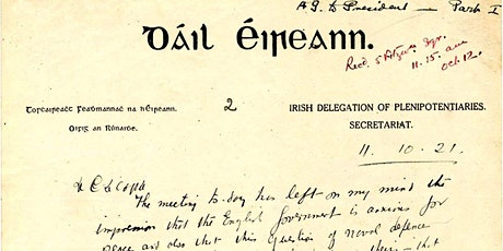 'The Anglo-Irish Treaty negotiations under the magnifying glass' tickets