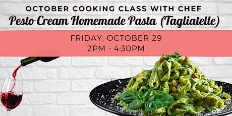 October  VITA Cooking Class   Pesto Cream Homemade Pasta (Tagliatelle) tickets