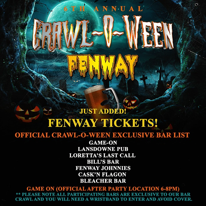 6th Annual Crawl-O-Ween Bar Crawl image