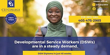 Developmental Service Worker (DSW) Diploma in 45 weeks tickets