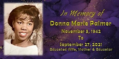 Donna Marie Palmer Memorial Service tickets
