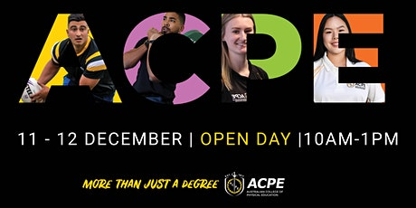 ACPE Open Day - 11th December 2021 - Sydney Olympic Park tickets