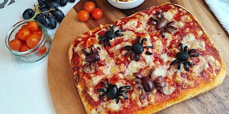 Creepy spider pizza tickets