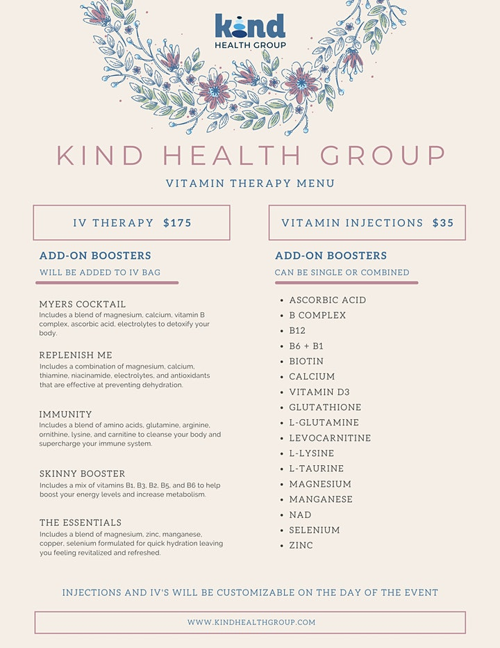 Kind Health Group at Blended Festival: Vitamin Therapy Sign-Ups image