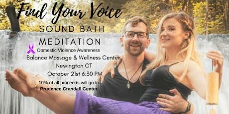 Find Your Voice Sound Bath Meditation tickets