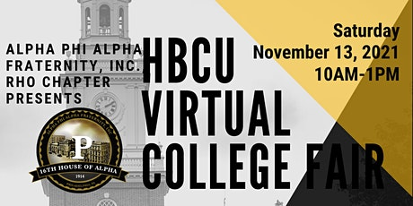 HBCU Virtual College Fair By Alpha Phi Alpha Fraternity, Inc., Rho Chapter tickets