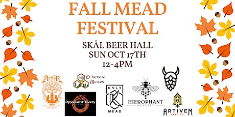 Fall Mead Festival at Skål Beer Hall - Session 1 (12-2p) tickets