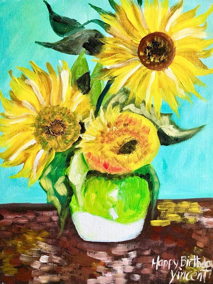ONLINE Paint Along @ Home -- Sunflowers image