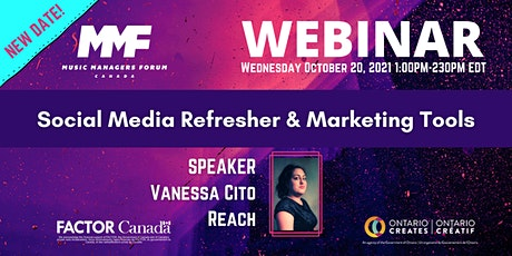 MMF CANADA WEBINAR:  Social Media Refresher & Marketing Tools tickets