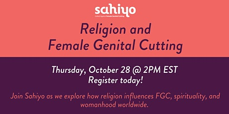 Exploring the Connections Between Religion and Female Genital Cutting tickets