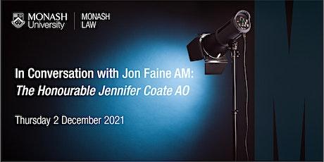 In Conversation with Jon Faine: The Honourable Jennifer Coate AO tickets