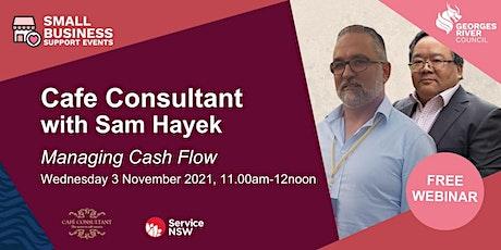 Cafe Series - Managing cashflow - Webinar 3 tickets