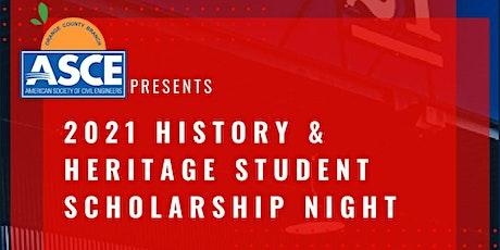 History & Heritage Student Scholarship Night 2021 tickets