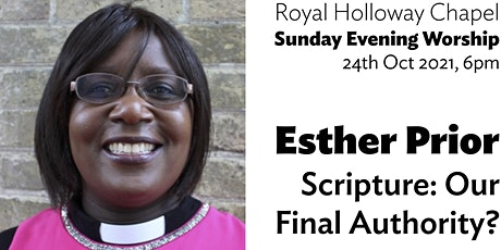 Revd Esther Prior: Scripture — Our Final Authority? (Evening Worship) tickets