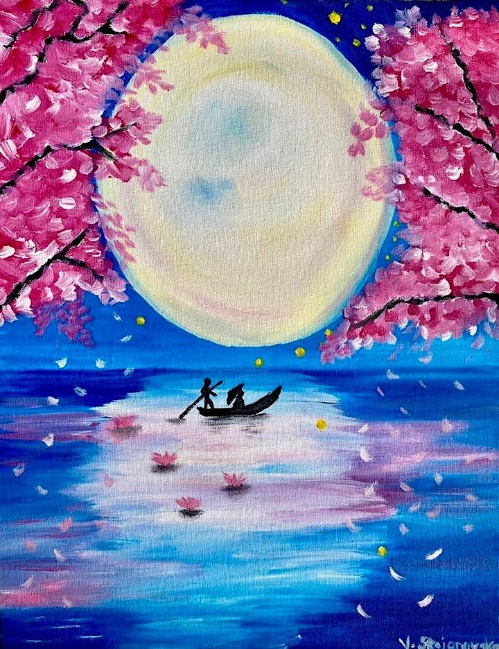 ONLINE Paint Along @ Home -- Moonlight image
