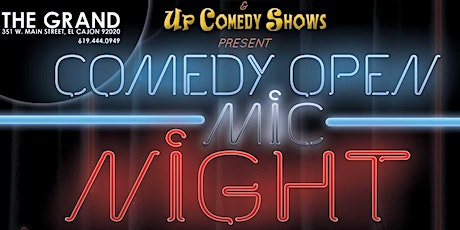 MONDAY Open Mic Night at The Grand, 10/25, 8:45 -9:20 pm tickets