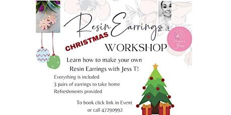 Handmade Resin Earring Making Workshop tickets