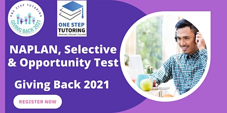 Naplan, Selective and Opportunity Tests tickets