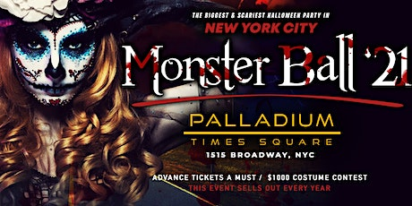 Halloween Monster Ball : NYC's Biggest Costume Party @ Palladium Times Sq tickets