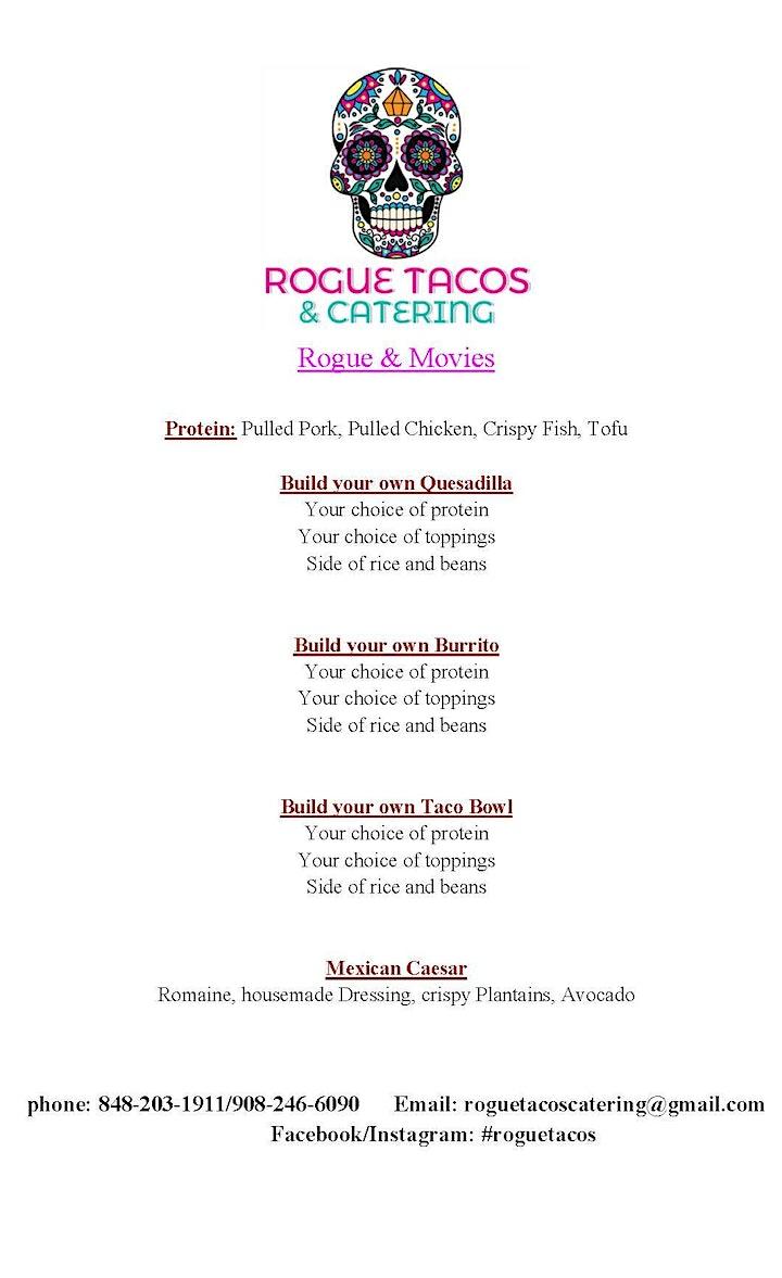 Rogue Taco and Pocono Cinema Present - Dinner and a Movie image