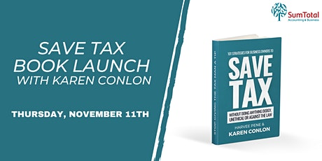 SAVE TAX Book Launch with Karen Conlon tickets
