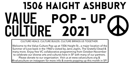 Value Culture Haight Ashbury  Arts & Culture Pop Up tickets